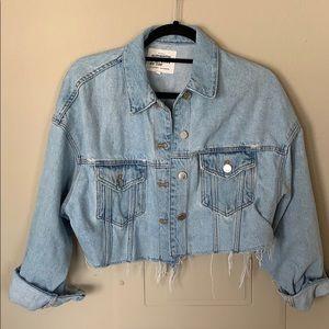 Zara Cropped and Oversized Grunge Jean Jacket